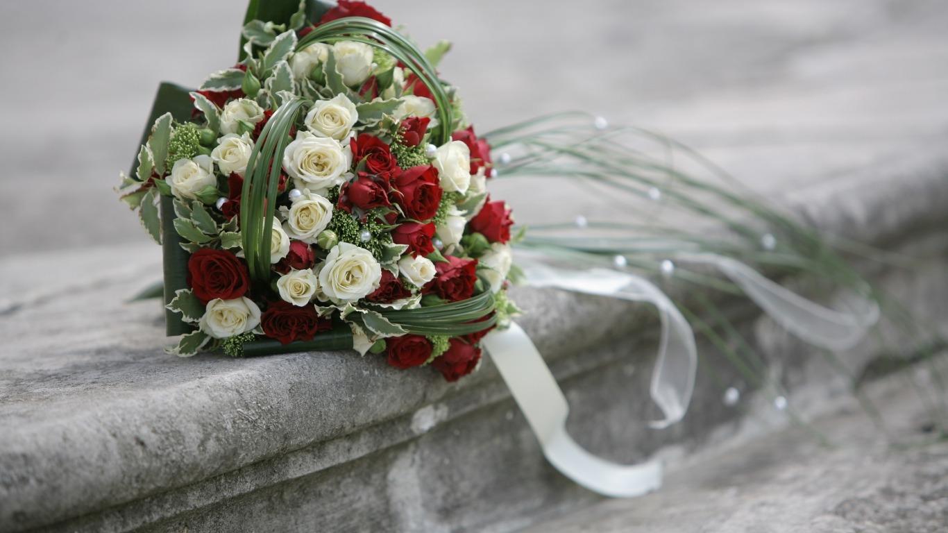 Букет на серебряную свадьбу