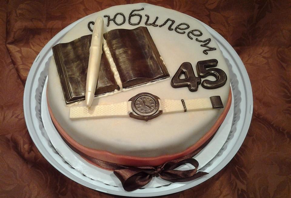 Торт на юбилей мужчине 45 лет